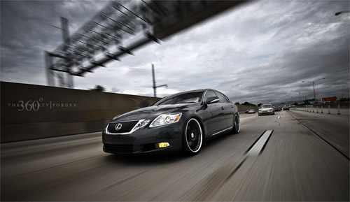 Lexus GS on 360 Forged Mesh Eights