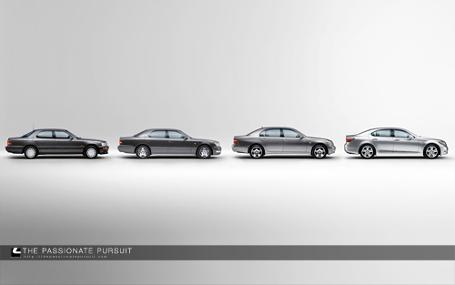 Lexus LS Generations Wallpaper