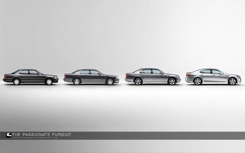 Lexus LS Generations Wallpaper
