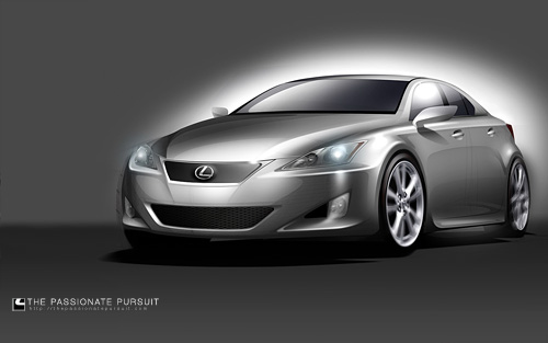 Lexus IS Concept Drawing Wallpaper