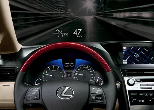 Lexus 2010 RX Heads-Up Display (HUD) | Lexus Enthusiast