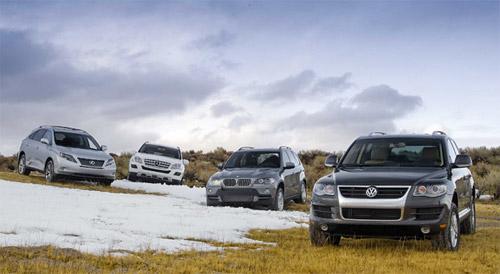 Lexus RX 450h, Mercedes ML320, BMW X5 & Volkswagen Touarag