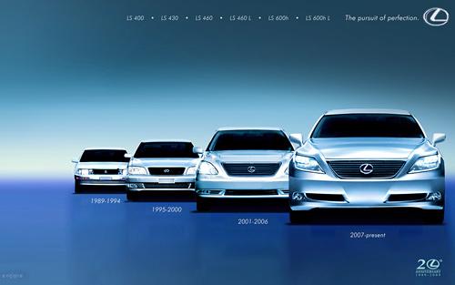 Lexus Wallpaper: Lexus LS Generations
