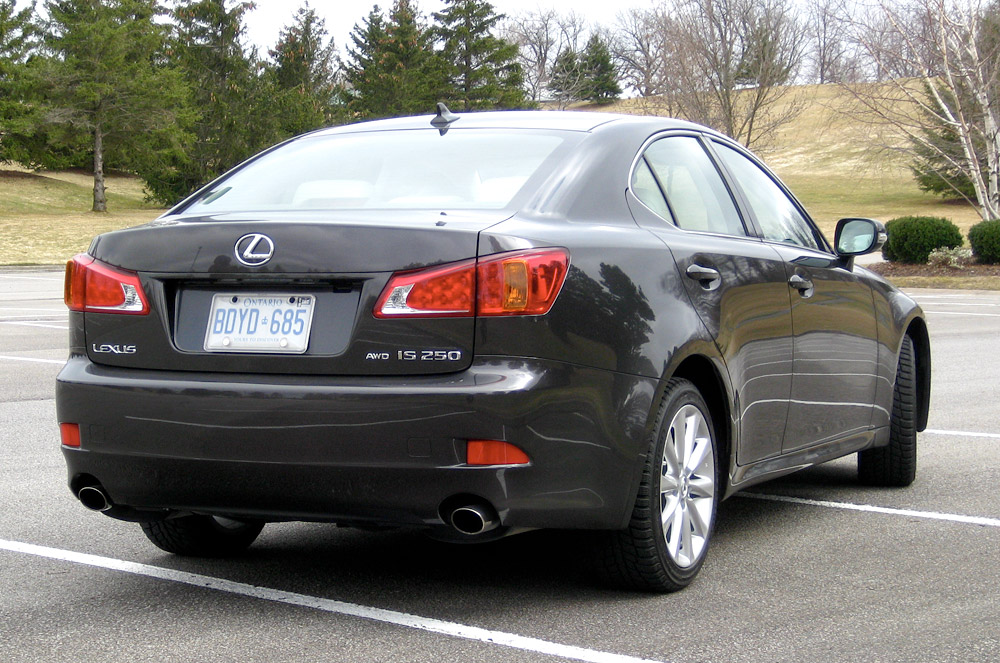 2009 lexus is 250 awd rear view. Black Bedroom Furniture Sets. Home Design Ideas