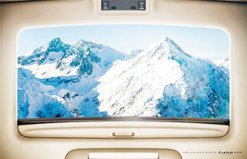 Lexus LX570 Print Ad: Mountains