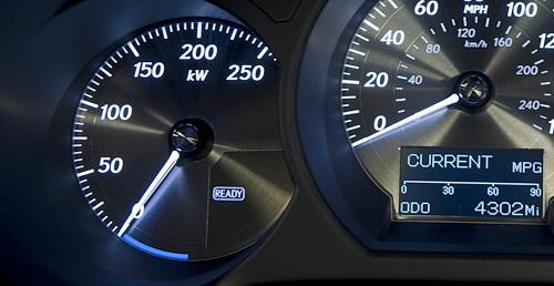 North American Lexus GS450h kW Energy Gauge