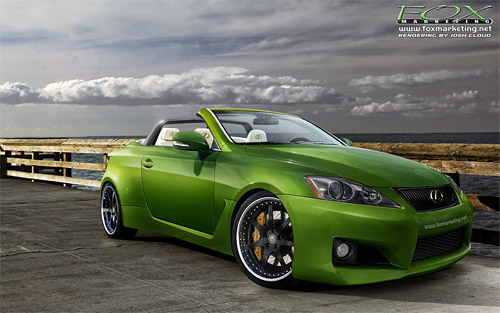 Fox Marketing Lexus IS C for SEMA