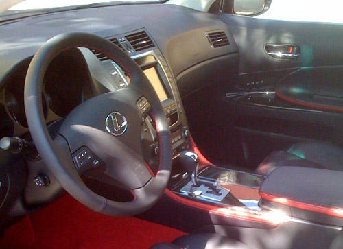 Harinder's Lexus GS with Passionate Black interior