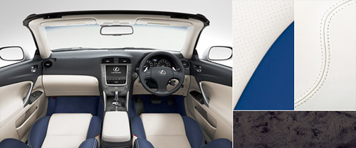 Lexus IS-C with White & Blue Leather Interior