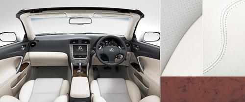 Lexus IS-C with White & Grey Leather Interior