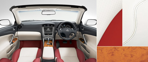 Lexus IS-C with White & Red Leather Interior