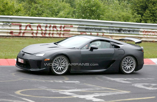 2011 Lexus LFA with extending wing 1