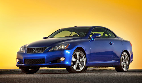 2010 Lexus IS 350c with the roof up