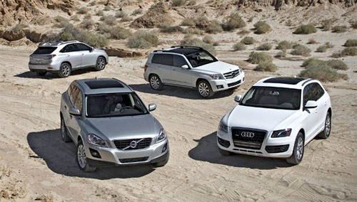 Lexus RX 350 vs. Audi Q5 vs. Mercedes GLK 350 vs. Volvo XC60