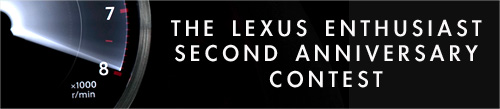 Lexus Enthusiast Contest Graphic