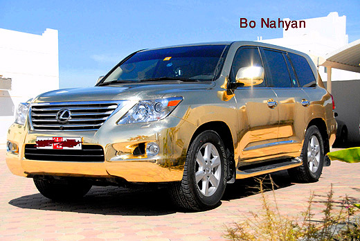 Lexus LX570 Gold Chrome Paint Front