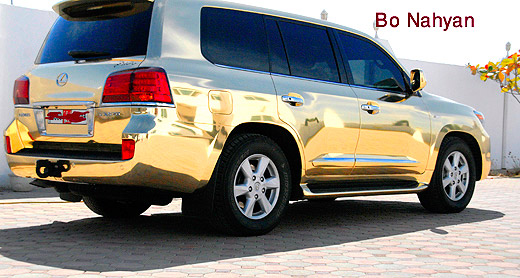 Lexus LX570 Gold Chrome Paint Rear