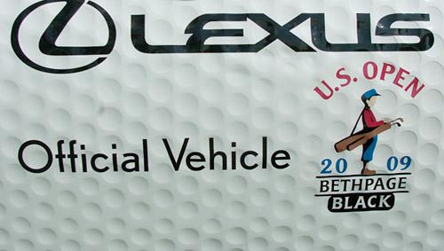 Dimpled Golf Ball Lexus LS460L Detail Shot
