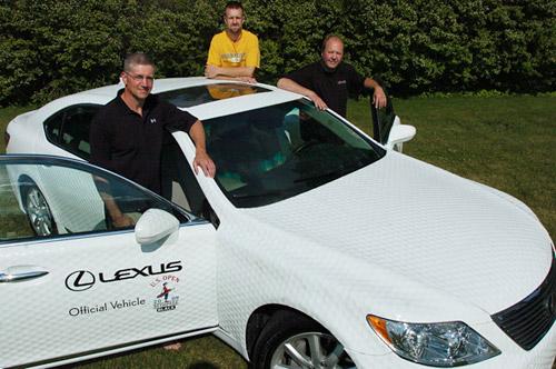 Dimpled Golf Ball Lexus LS460L
