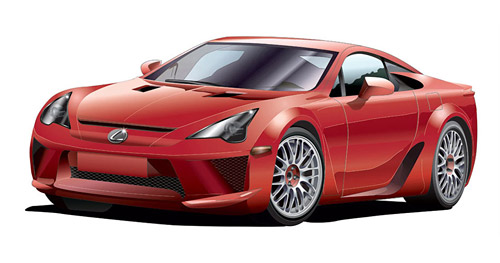 Latest Lexus LFA Rendition