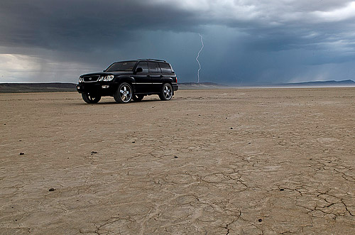 Lexus LX470 in the Alvord Desert Bonus Shot