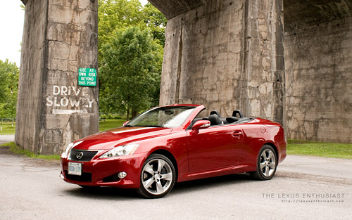 Lexus IS 350C Convertible Wallpaper with Top Down