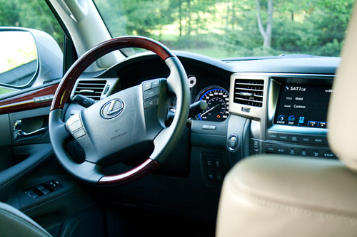 Lexus LX 570 Interior. With its wide assortment of buttons and toggle