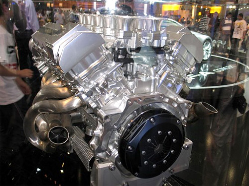 Lexus LFA Engine on Display