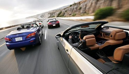 Lexus IS 350c vs. BMW 328i vs. Infiniti G37 vs. Volvo C70 Convertible