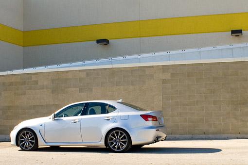 Lexus IS-F outside Best Buy