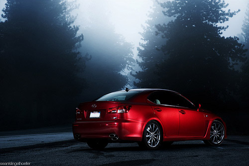 2009 Lexus IS-F Photos in Fog
