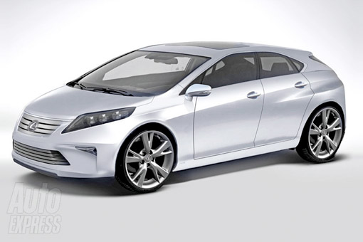 Lexus CT200h Rendering Front View