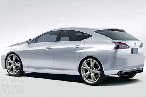 Lexus CT200h Rendering Rear View
