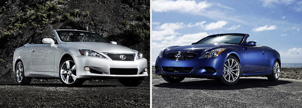 Lexus IS 350C vs. Infiniti G37 Convertible