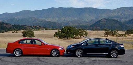 2010 Lexus HS250h vs. BMW 335d
