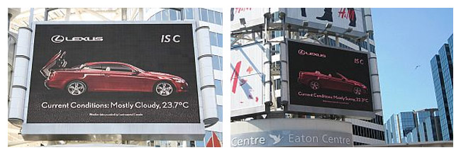 Lexus IS Convertible Billboard in Toronto
