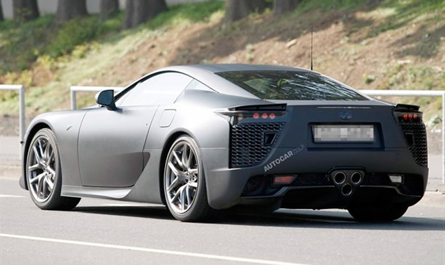 Lexus LF-A Racing Variant from the back