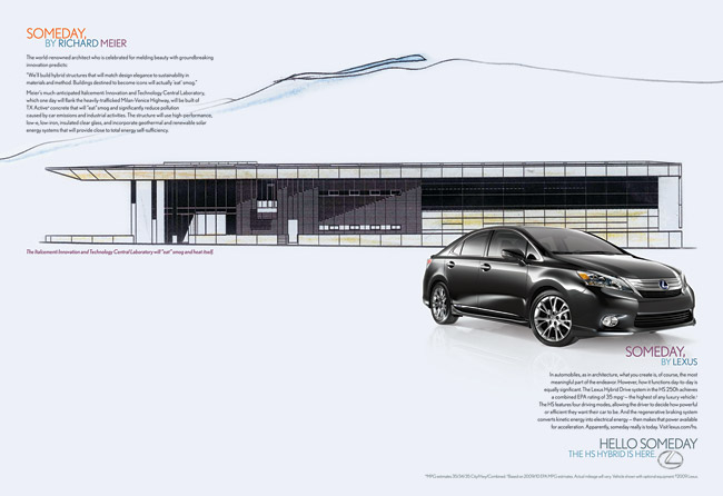 Lexus HS 250h Print Ad by Richard Meier