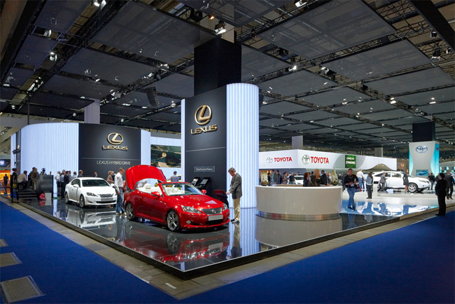 The Lexus booth at the 2009 Frankfurt Auto Show