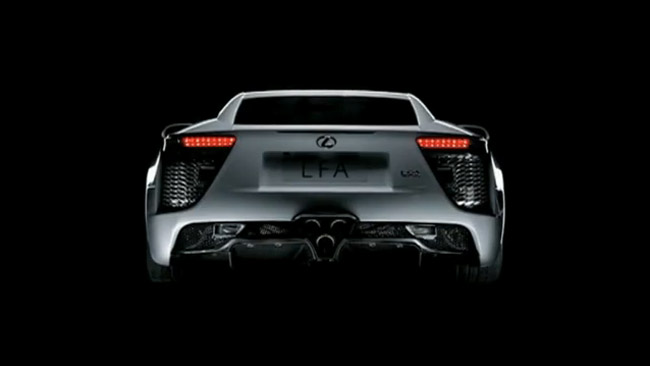 Lexus LFA Rear Lights 2