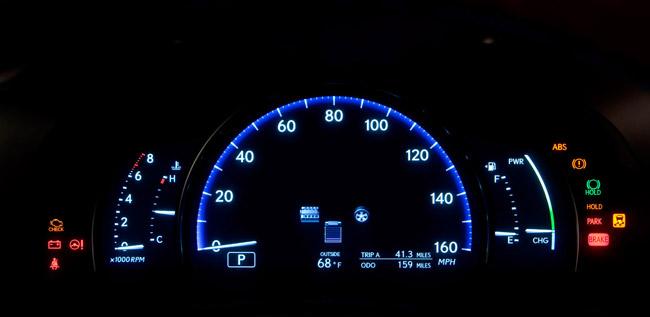 2010 Lexus LS 600hL Digital Instrument Panel