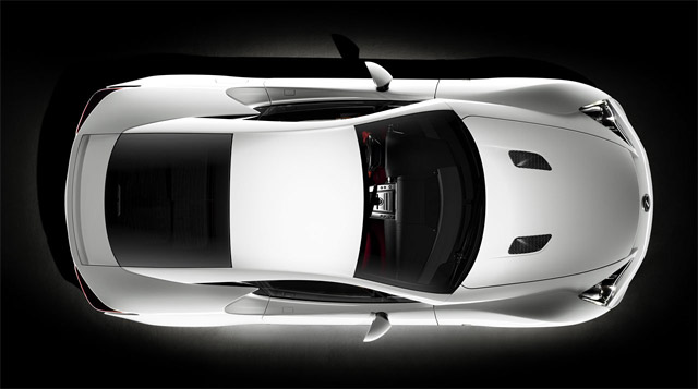 Lexus LFA from a bird's eye view