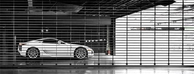 Lexus LFA behind bars