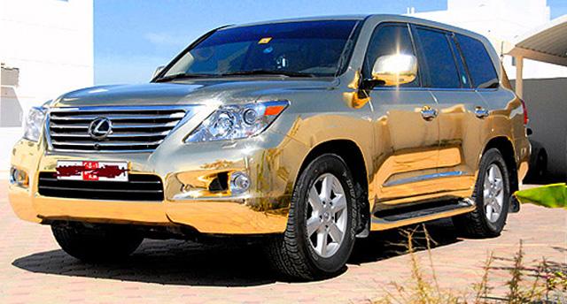 Gold Lexus LX 570