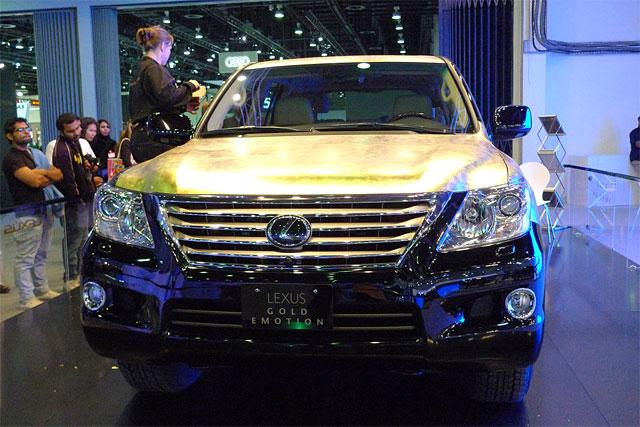 Gold Lexus LX 570 2