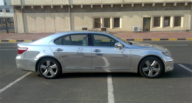 Chromed out Lexus LS 460 1