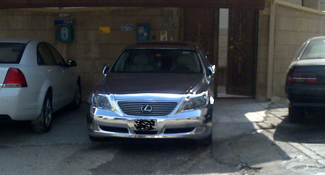 Chromed out Lexus LS 460 2