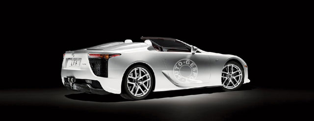 Lexus LFA Convertible Rear View