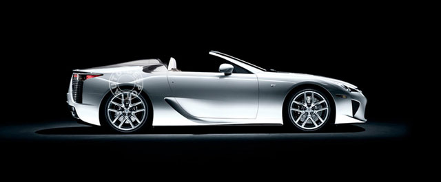 Lexus LFA Convertible Side View