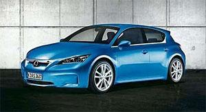 Blue Lexus LF-Ch